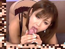 japanese mom blowjob pov